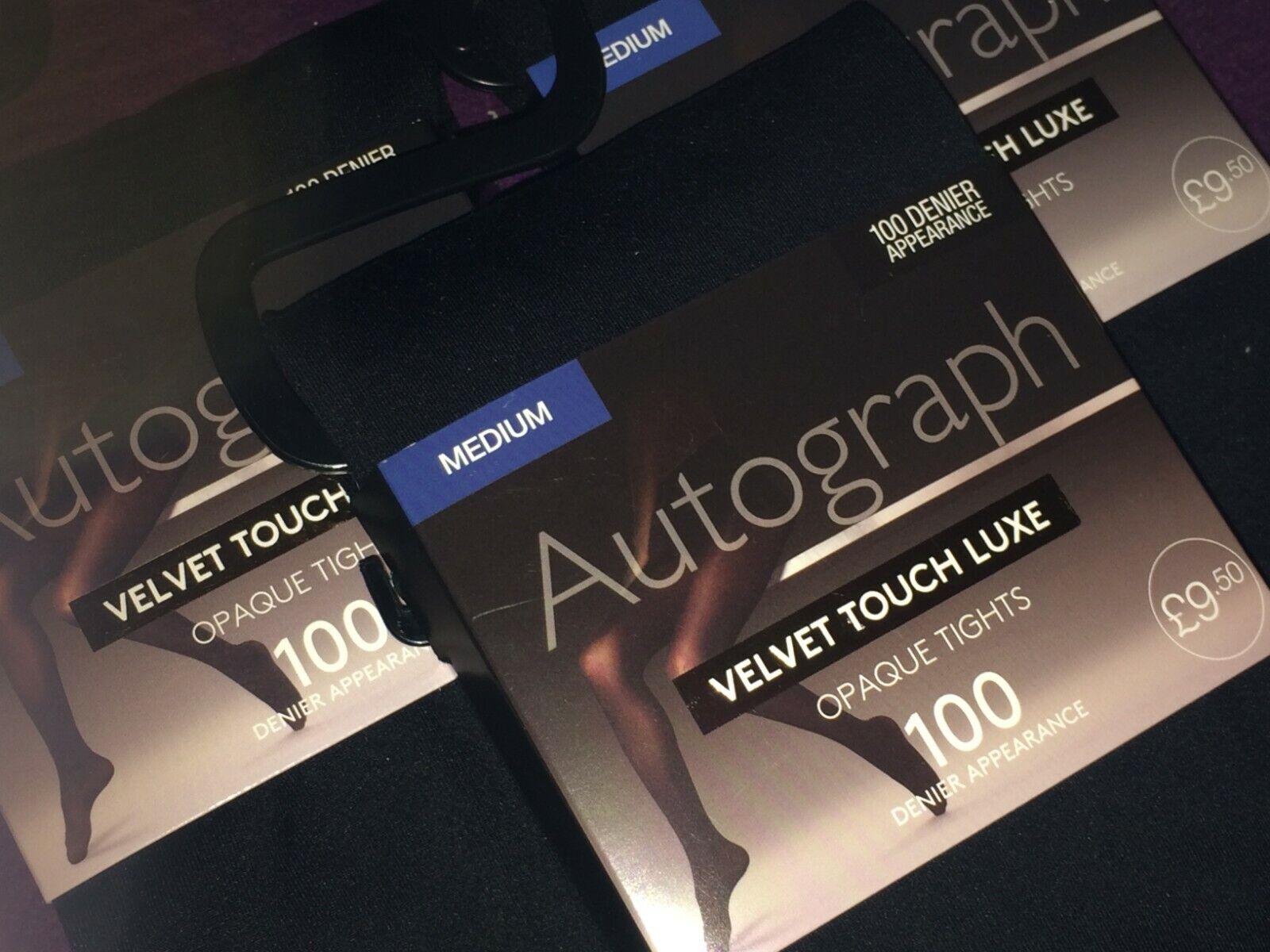 M/&S Autograph 40 Denier Opaque Velvet Touch Lux Tights Size Medium