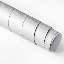 2x DIN A4 Wrapping Folie 3D Carbon Silber 21cm x 29,7cm Autofolie m Luftkanälen