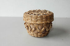 Clara Keezer Passamaquoddy Sweet Grass Ash Basket Blue Natural Heritage Award