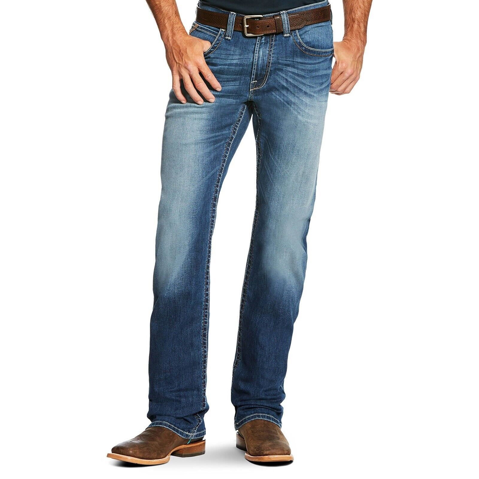 Ariat® Men's M4 TekStretch Cooper Relaxed Fit Boot Cut Jeans 10020798