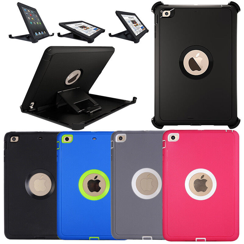 newest collection ad2e9 8557e Details about Defender Series Case For iPad mini 4 / mini 3/2/1(Shield  Stand Fit for Otterbox)