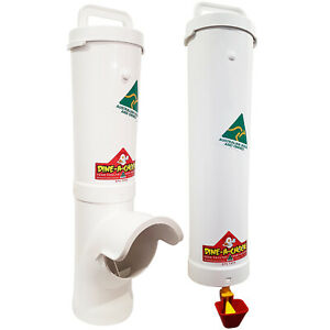 DINE-A-CHOOK-Chicken-Feeder-amp-Drinker-Set-Poultry-Coop-Chook-Waterer