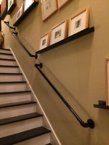 Image Is Loading STAIR HAND RAIL BANISTER WITH BRACKETS VINTAGE FROM