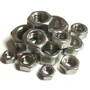 510 ASSORTED PIECE A4 STAINLESS M3 M4 M5 M6 M8 M10 M12 HEXAGON FULL NUTS KIT Home, Furniture & DIY