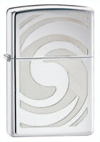 Zippo Windproof 3d Abstract High Polished Chrome Lighter, 28286, In Box