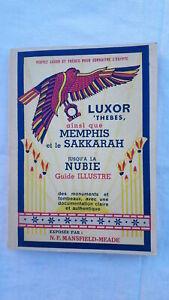 2019 DernièRe Conception Luxor, Thebes, Ainsi Que Memphis Et Le Sakkarah Jusqu'a La Nubie 1940 Grandes VariéTéS