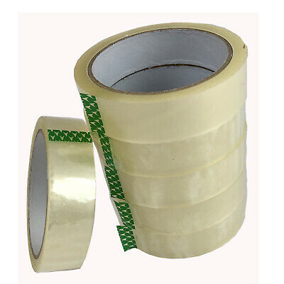 "CLEAR TAPE 48 ROLLS PARCEL PACKING SELLOTAPE 1/"" 24MM X 66M CELLOTAPE PACKAGING"