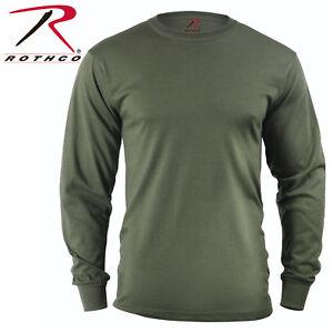4cbdbd8d9 OD Green Army USMC Long Sleeve T-Shirt Tactical Military Shirt ...