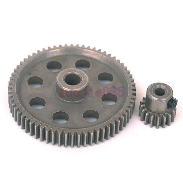 RC 1/10 HSP 11184 & 11119 Differential Steel Metal Main Gear 64T Motor Gear 17T
