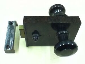 Original Vintage 1930\'s Art Deco Brown Bakelite Door Rim Lock Keep ...