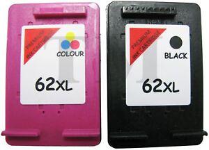 62-XL-Black-amp-Colour-Remanufactured-Ink-Cartridges-For-HP-Officejet-5744-Printer