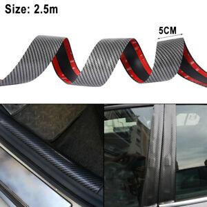 2-5M-5CM-Coche-Puerta-Umbral-desgaste-Pedal-proteger-Protector-De-Fibra-De-Carbono-Pegatinas-3D