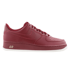 Mens NIKE AIR FORCE 1 07 Dark Red Trainers AA4083 603