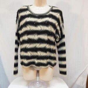 Antonio-Melani-Women-039-s-Sweater-Size-S-Italian-black-gray-white-wool-acrylic