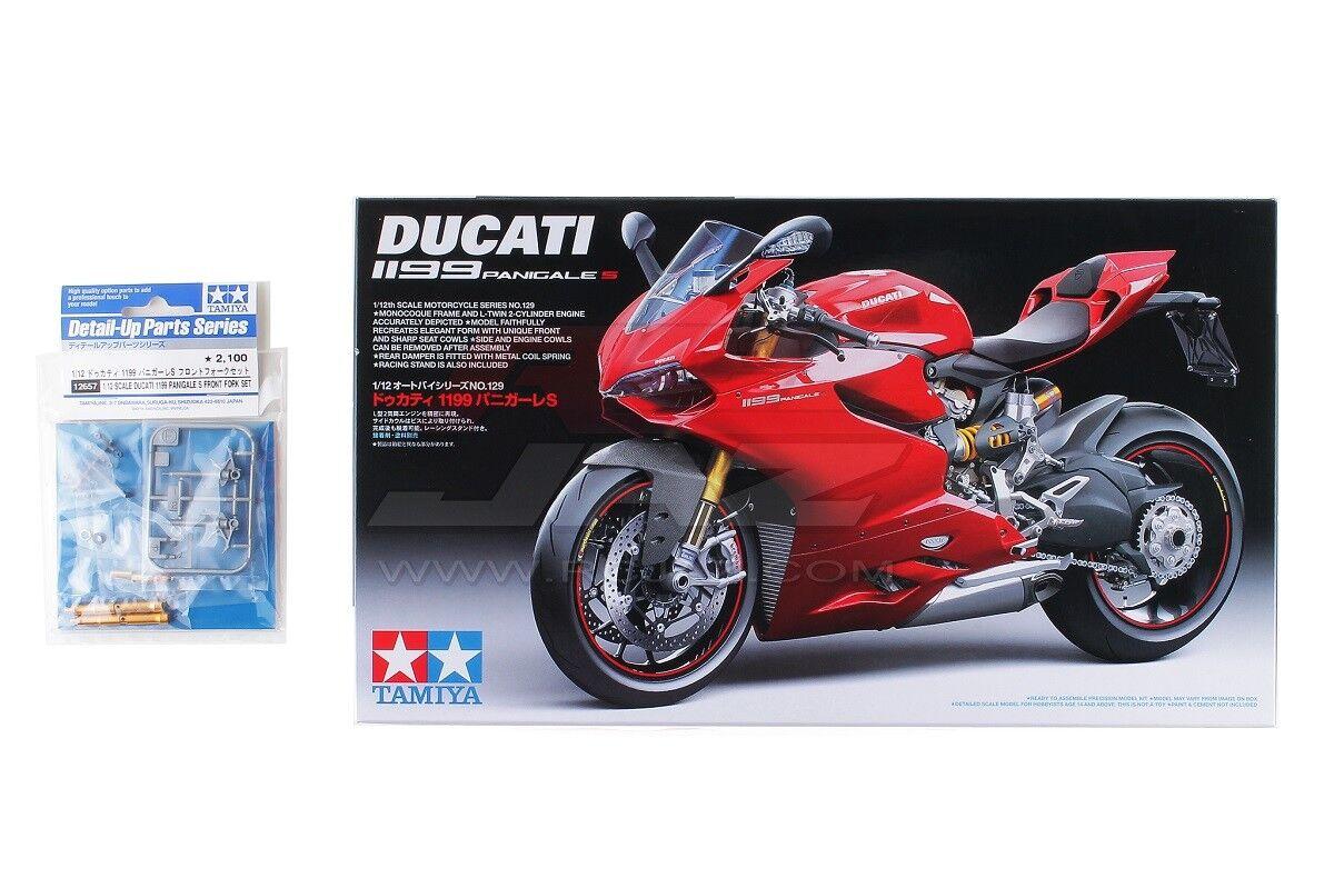 Tamiya 14129 1  12 skala modellllerlerl Kit Ducati 1199 Panigale S w  12657 Front Fork Set