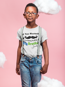 Mustache Big Brother Shirt Personalized Shirt Sibling Announcement Tee Ebay