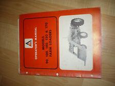 Allis Chalmers Tm315a Farm Loaders Model 90 10 140 150 170 Operators Manual