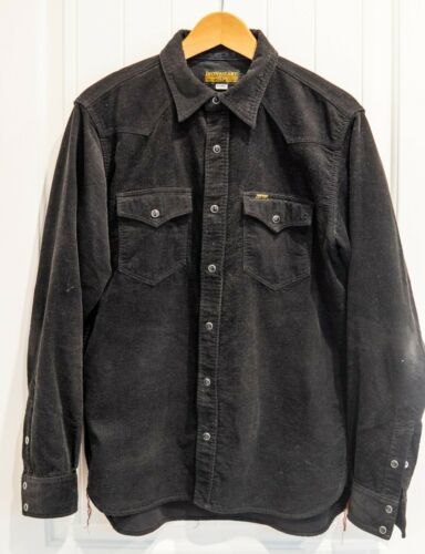 Iron Heart IHSH-50 Black Corduroy Shirt - Mens Siz