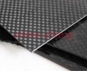0-2-0-5-1-2-3mm-Full-Carbon-Fiber-Plate-Panel-Sheet-3K-Plain-Weave-Lusterless