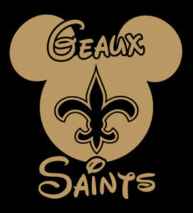 88f1e79c Details about Geaux Saints Mickey Mouse shirt Disney New Orleans Who Date  vacation t-shirt