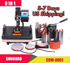 New T Shirt Print 8 In 1 Combo Multifunctional Sublimation Heat Press Machine