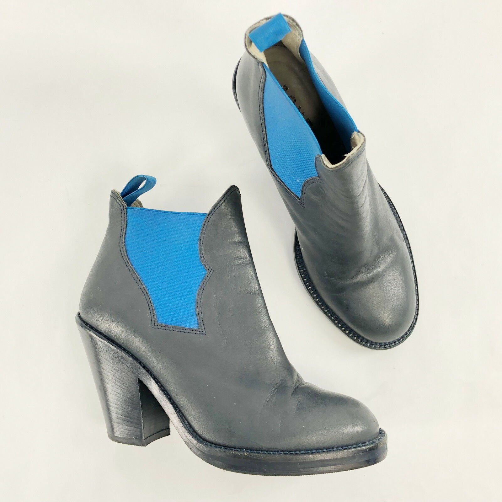 acquista marca Acne Studios Donna  stivali Star blu Leather Chunky Chunky Chunky Heel Ankle Pull On avvioie 36  punto vendita