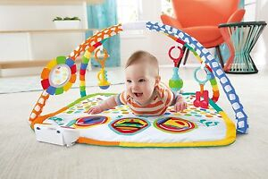 Fisher-Price Baby's Bandstand Play Gym Musical Matt 3 Satage New