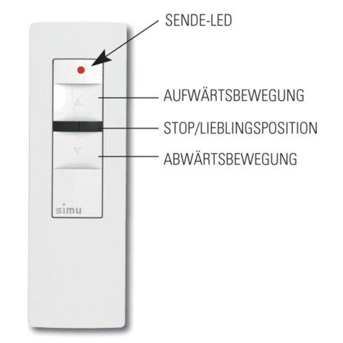 Sublimables Hz Funk télécommandes 1 Canaux Télécommande Interrupteur Rolladenmotor Rohrmotor