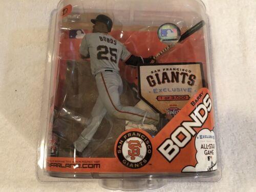 """Barry Bonds Exclusive All Star Fan Fest McFarlane 6/"""" figure 1 of 3000 SF Giants"""