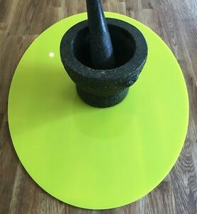 Yellow Round Acrylic Worktop Saver