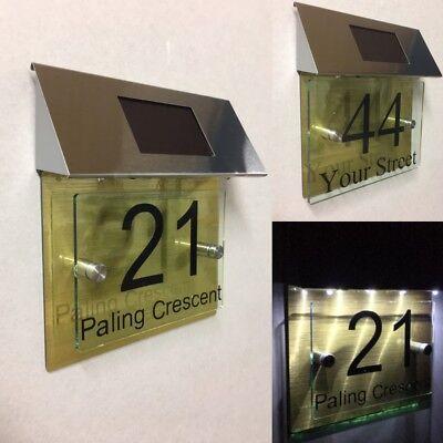 Grand Moderne Maison Chiffres 250MM Numéros de Porte Aluminium Effet Numéro