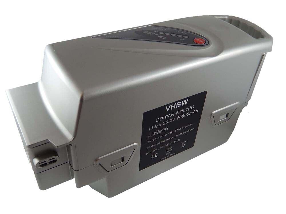 Batería E-BIKE PEDELEC Plata 20800mAh (20.8Ah) para Panasonic NKY224B02, NKY314B2