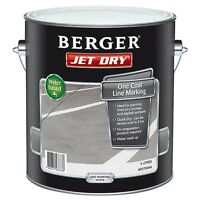 Berger Jet Dry Line Marking Paint 4l For Concrete & Asphalt - White Or Yellow