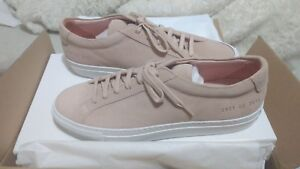 e49ddf0aa962 NEW WITH BOX  Common Projects Blush Suede White Sole Size 40 ...