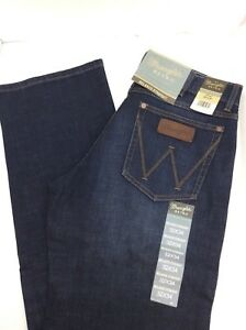 ea271145 Image is loading WRANGLER-RETRO-WRT30BK-DARK-BLUE-Relaxed-Straight-Leg-