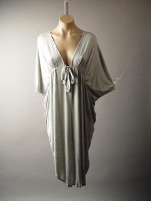 Plus Brown Mustard Stripe Kimono Sleeve Caftan Style Top 182 mv Blouse 1X 2X 3X