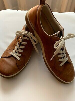 ECCO Retro DIP TECH EU 40 US 99.5 Brown Leather Lace Up Walking Sneakers Shoes | eBay