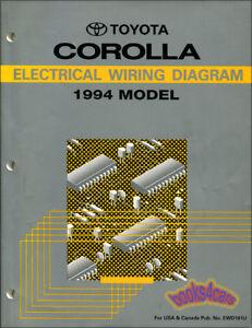 COROLLA    TOYOTA 1994 MANUAL ELECTRICAL WIRING    DIAGRAM       SHOP       SERVICE       REPAIR    SCHEMAT   eBay