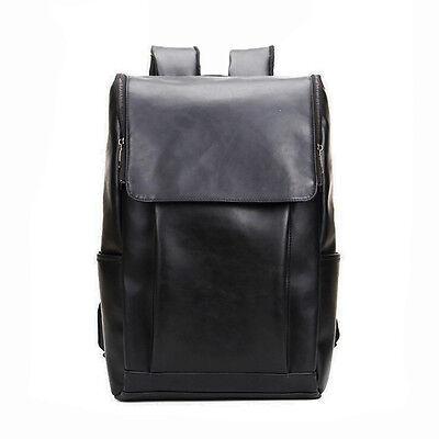 Vintage Men's Leather Backpack Shoulder Bag Messenger Rucksack Laptop Bookbag US