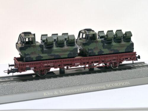 G Roco 884 KBS rungenwagen con 2 Scorpion minenwerfern Bundeswehr