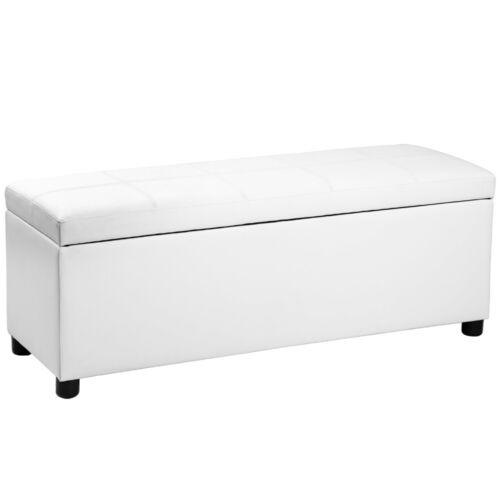 CORIUM ® ottomane Table de nuit Tabouret Siège Coffre Tabouret Noir Blanc Cuir Synthétique