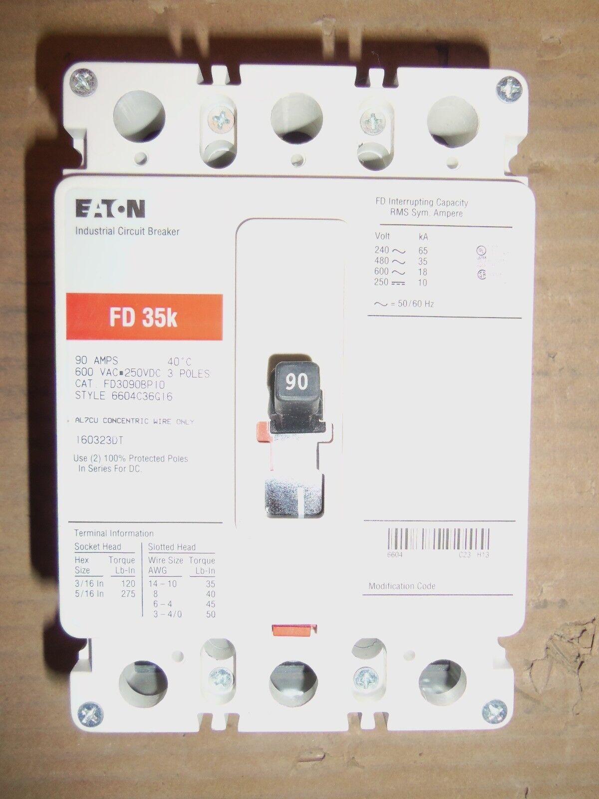 Eaton FD3090BP10 Breaker FD35K 90 Amp