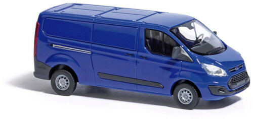 Busch 52401 Ford Transit Custom Kasetnwagen blau HO 1:87 NEU