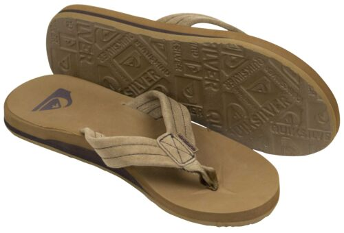 Light Brown//Black Quiksilver Mens Carver Suede Beach Casual Sandals