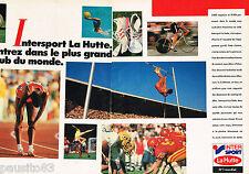 PUBLICITE ADVERTISING 065  1986  INTER SPORT LA HUTTE   équipement sportif (2p)