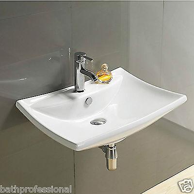 Basin Sink Bathroom Wall Hung Mounted Countertop Ceramic Cloakroom Art Tap WH72