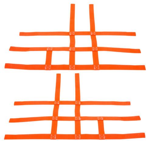 Kawasaki KFX 450R 700 450 Nerf Bar Nets  Fits Alba Tusk   Orange     J