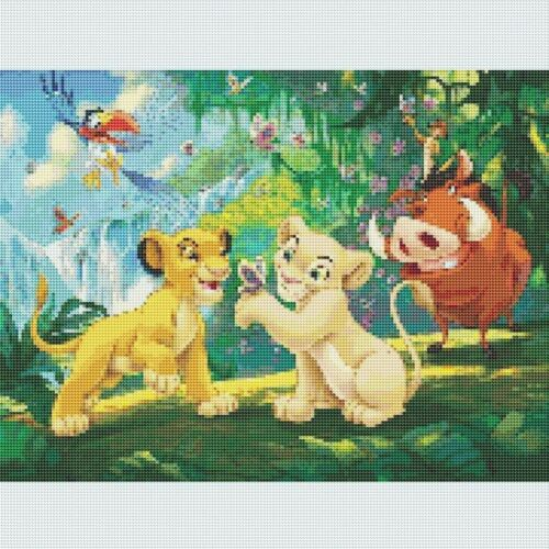 Full 5D Drill Diamond-Painting Cross Stitich Lion King Kits Art Home Decor