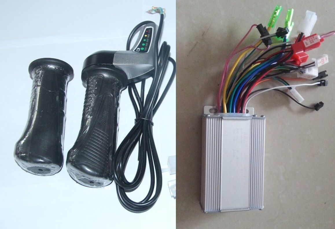 Electric Scooter Bike DC48V 350W Brushless Motor Controller&Twist Thredtle