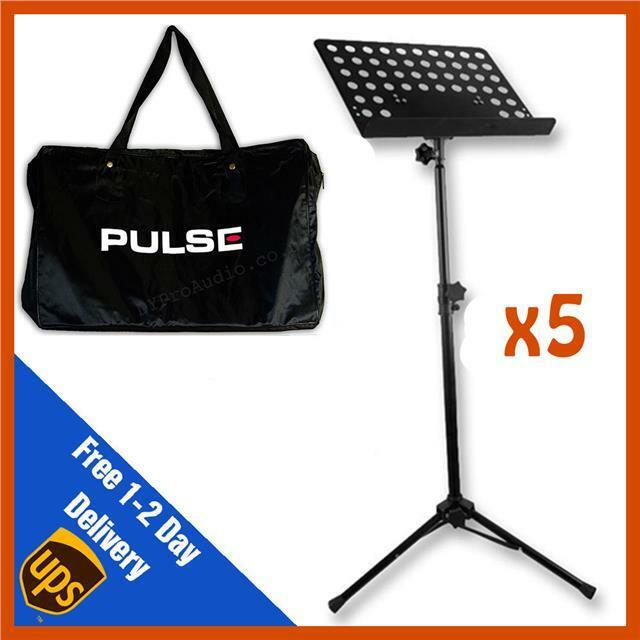 5 x Heavy Duty Orchestral Lectern Conductor Sheet Music Stand Tripod + FREE BAG